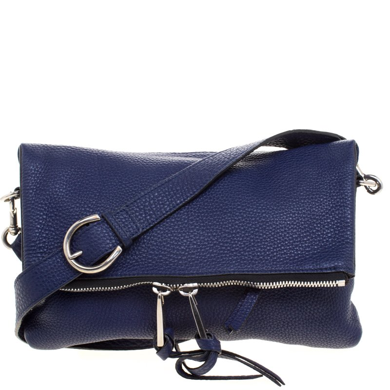 9957db619807 ... Marc Jacobs Navy Blue Leather Mini Maverick Foldover Crossbody Bag.  nextprev. prevnext