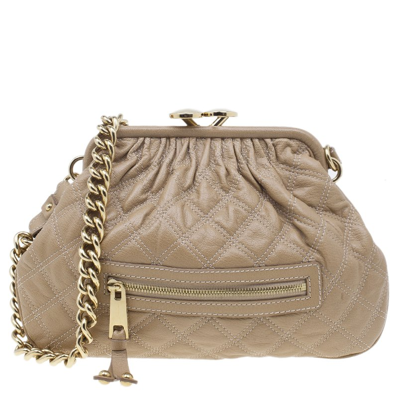 0ba756bcb9ae ... Marc Jacobs Nude Quilted Leather Little Stam Shoulder Bag. nextprev.  prevnext