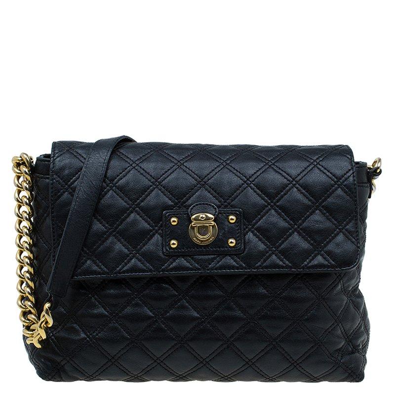 09206e98c769 ... Marc Jacobs Black Quilted Leather The XL Shoulder Bag. nextprev.  prevnext