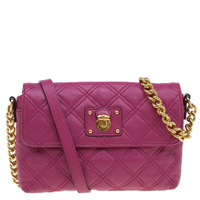 3cab82d08f2b9 ... Marc Jacobs Pink Quilted Leather Small Single Shoulder Bag. nextprev.  prevnext