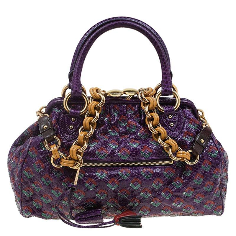 440ac74d78ad ... Marc Jacobs Purple Quilted Python Stam Satchel. nextprev. prevnext