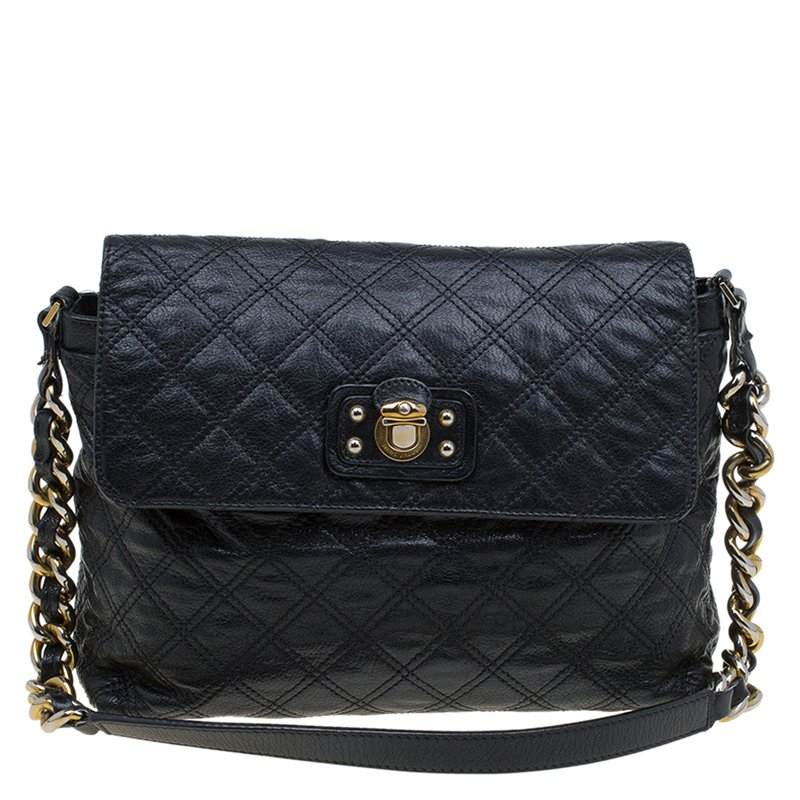 b5b8316c8 Marc Jacobs Black Quilted Leather The Xl Shoulder Bag 82580 At