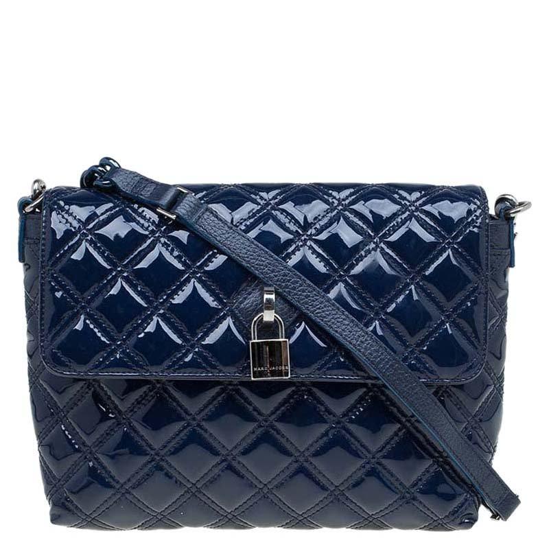 0e40c9b87c ... Marc Jacobs Blue Quilted Patent Leather Single Flap Shoulder Bag.  nextprev. prevnext