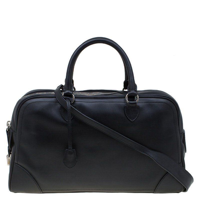 d6ab382379a5 Buy Marc Jacobs Black Leather The Venetia Bowling Bag 87180 at best ...