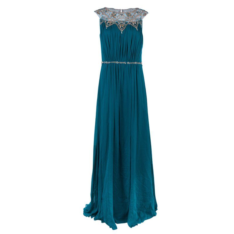 6a4e6638f0 Buy Marchesa Notte Blue Evening Gown M 38766 at best price | TLC