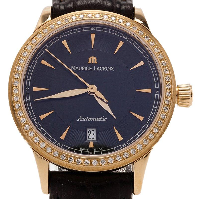ee08a0fcd إشتري ساعة يد موريس لاكروا لو كلاسيك ذهب أصفر عيار 18 ماس سوداء ...