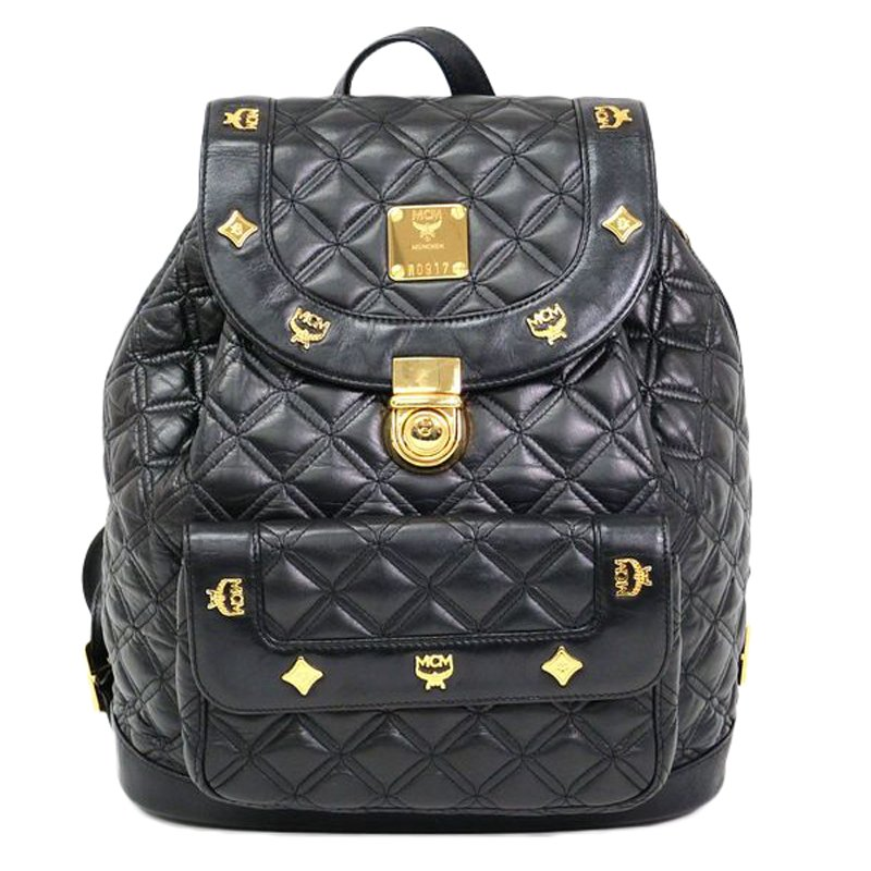 ba7e153a4c1ba Buy MCM Black Quilted Leather Stark Backpack 50534 at best price | TLC