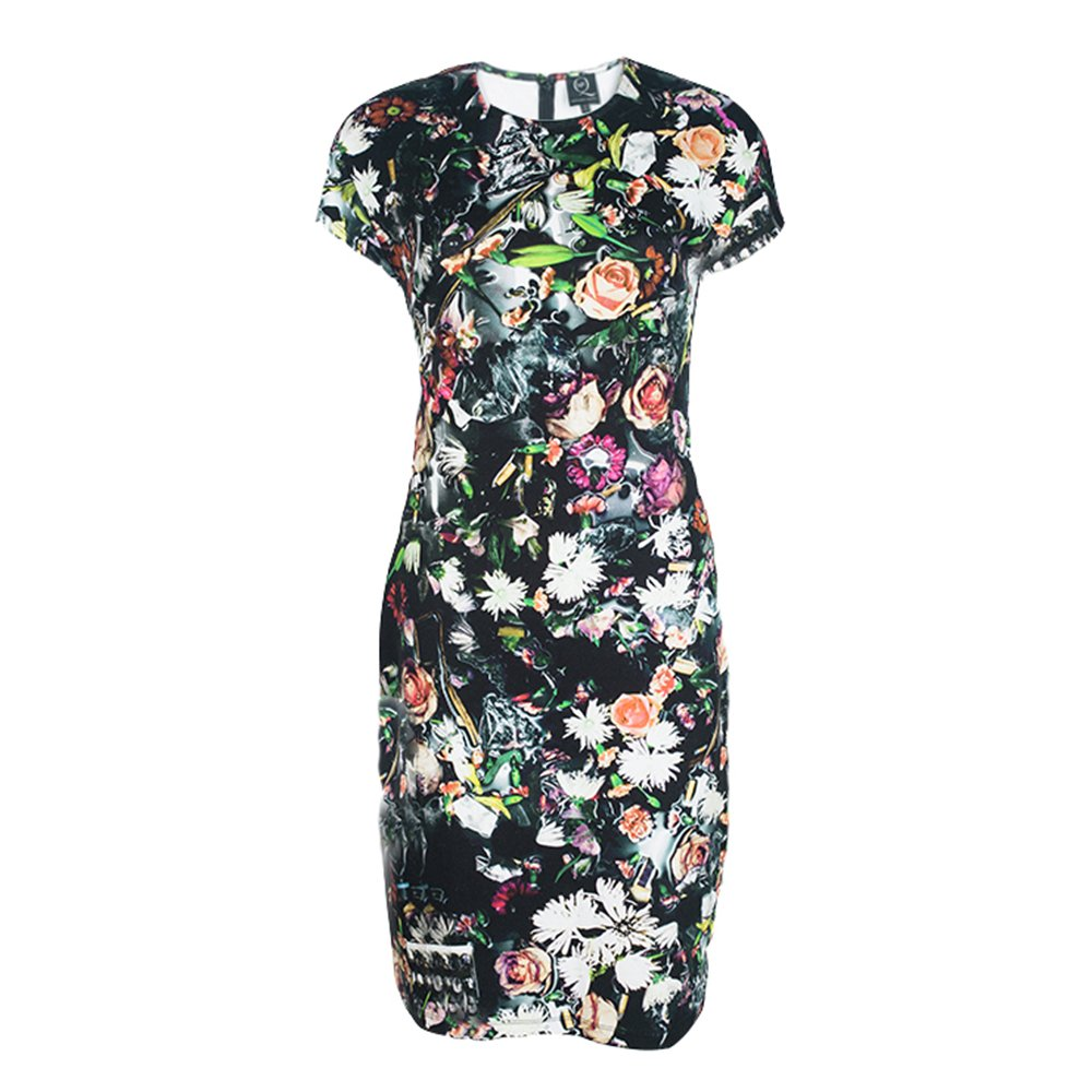 MCQ by Alexander McQueen Multicolor Festival Floral Printed Jersey Dress M