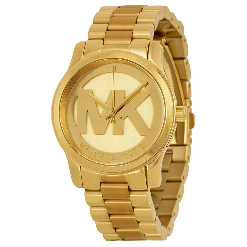 Michael Kors Champagne Gold-Plated Stainless Steel Runway MK5786 Women's 38MM