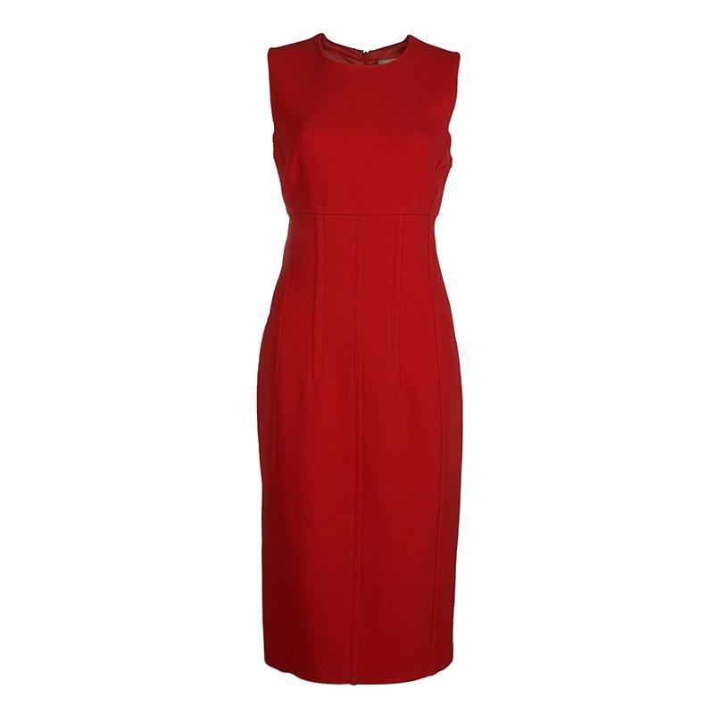 Michael Kors Red Knit Sleeveless Dress L