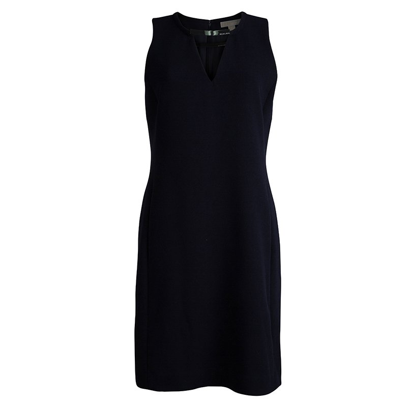 Michael Kors Navy Blue Sleeveless Shift Dress M