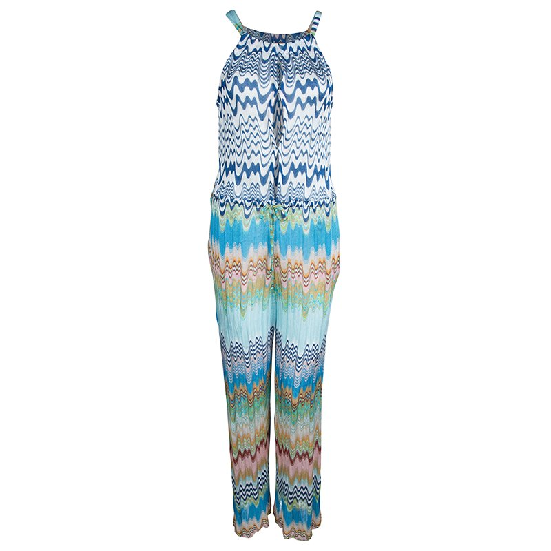 1181bf91c0e2a Buy Missoni Mare Multicolor Knit Wave Pattern Sleeveless Sheer ...