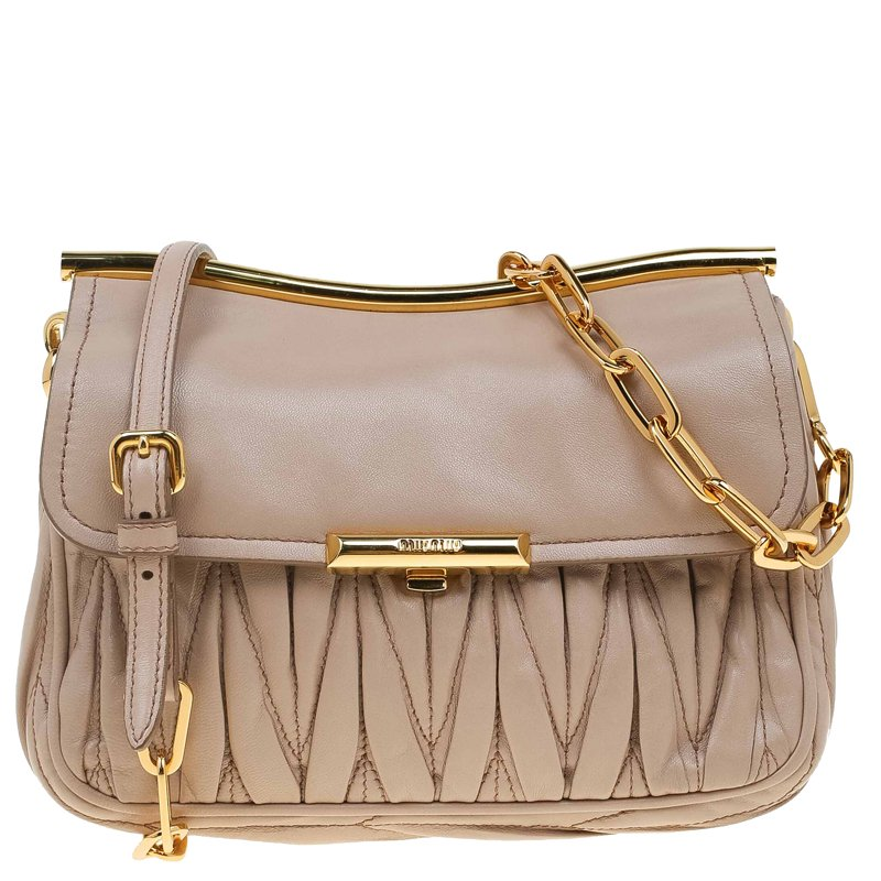 6c8fde5db25 ... Miu Miu Beige Matelasse Leather Frame Shoulder Bag. nextprev. prevnext