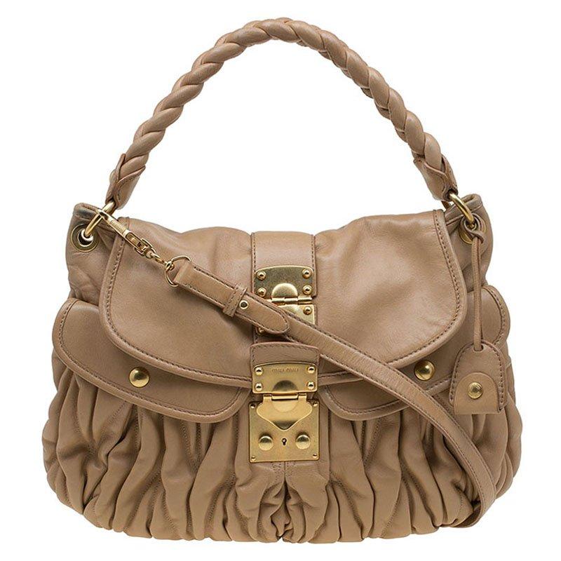 2809e1ef5196 Miu Miu hobo bag Source · Buy Miu Miu Brown Matelasse Leather Hobo 87441 at  best price TLC