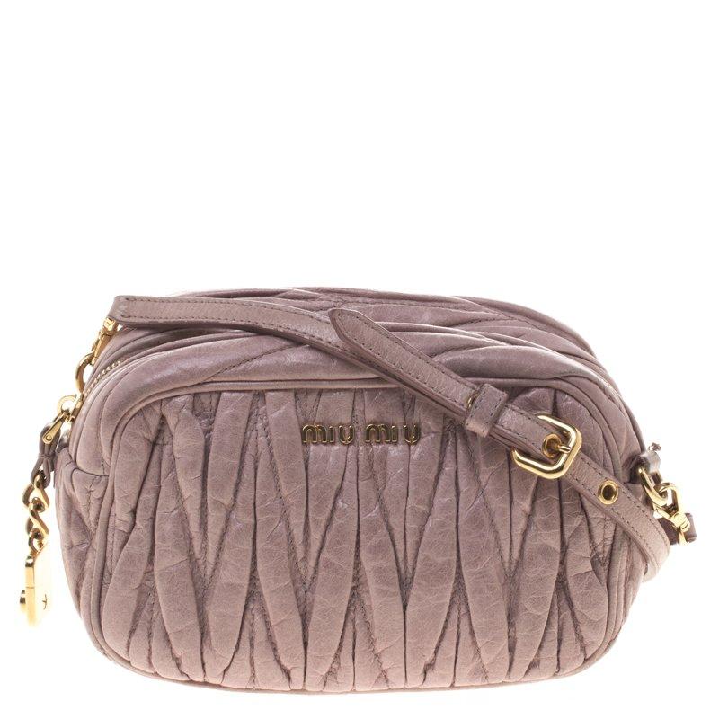 588f7e720f3a ... Miu Miu Lilac Matelasse Nappa Leather Mini Zipper Shoulder Bag.  nextprev. prevnext