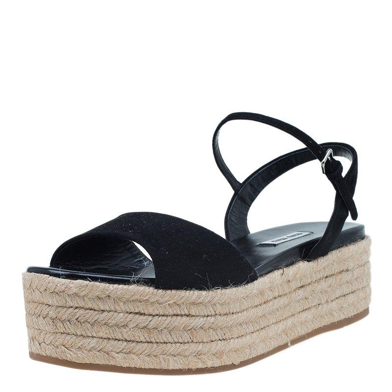 eff83f0fde23 ... Miu Miu Black Suede Espadrille Platform Sandals Size 39. nextprev.  prevnext