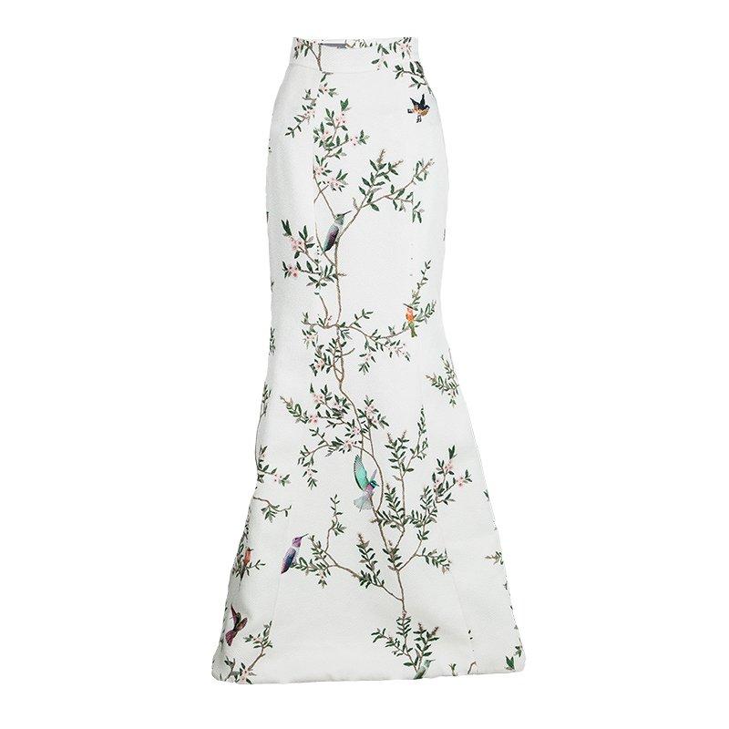 03cada8c09c06 ... Monique Lhuillier Off White Pebble Jacquard Printed High Waist Maxi  Skirt M. nextprev. prevnext