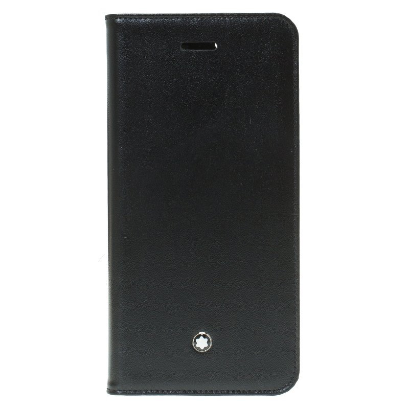 huge discount b62a6 70e89 Montblanc Black Leather Meisterstuck IPhone Case 6 Ap6