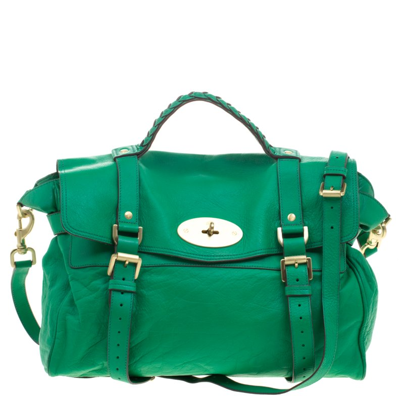 bc371d43da10 ... Mulberry Green Leather Oversized Alexa Satchel. nextprev. prevnext
