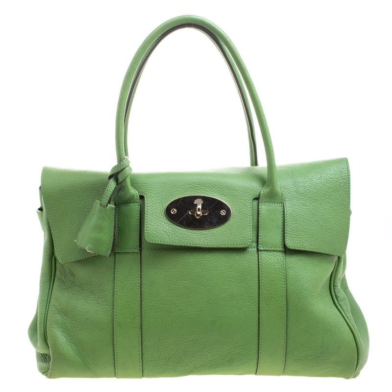 Buy Mulberry Green Leather Bayswater Satchel 103961 at best price  bcbc279aa5518