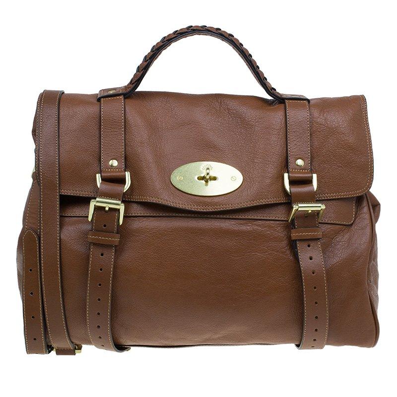 87fef32a32ca ... Mulberry Brown Soft Buffalo Leather Oversized Alexa Satchel Bag.  nextprev. prevnext