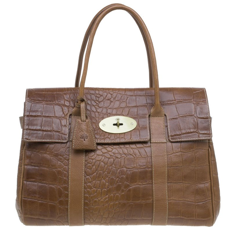 7f172f53e8cc ... Mulberry Brown Croc Embossed Leather Bayswater Satchel. nextprev.  prevnext