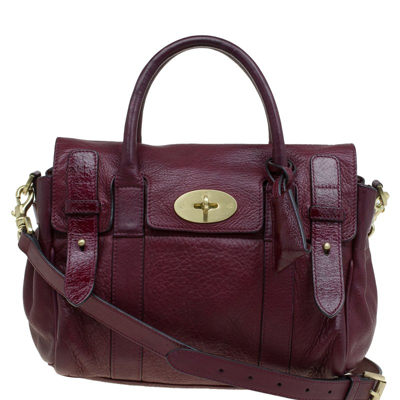 5b4df80440 Buy Mulberry Burgundy Leather Heritage Bayswater Satchel 80474 at ...