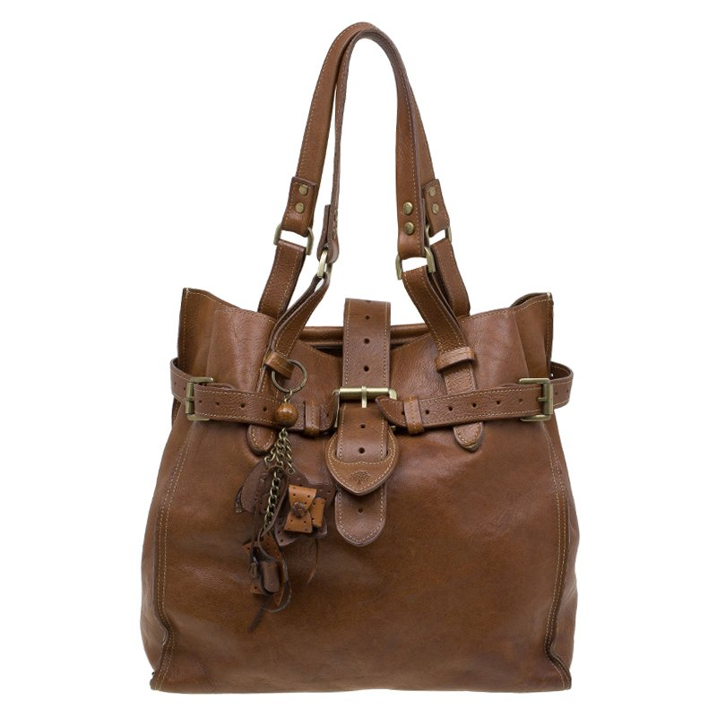7f9469620dde Buy Mulberry Brown Leather Elgin Tote 84911 at best price