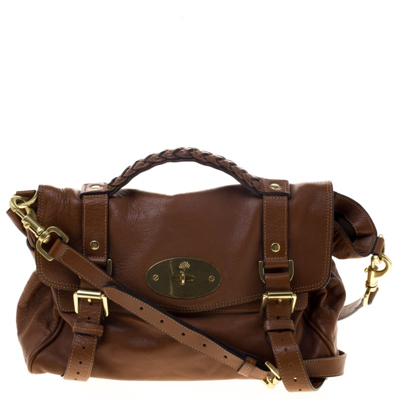 d47d4599b8 Buy Mulberry Brown Leather Alexa Shoulder Bag 96592 at best price