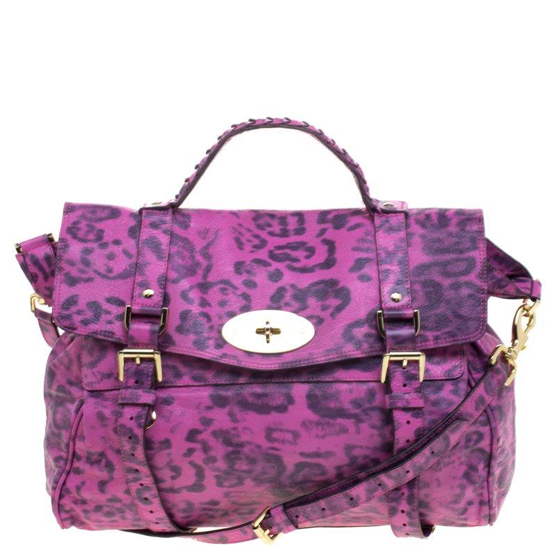 ba9a357c17c0 ... Mulberry Pink Leopard Print Leather Oversized Alexa Satchel. nextprev.  prevnext