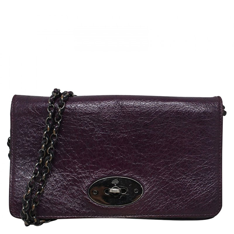 e0c7772c78 ... Mulberry Purple Leather Bayswater Wallet On Chain Clutch Bag. nextprev.  prevnext