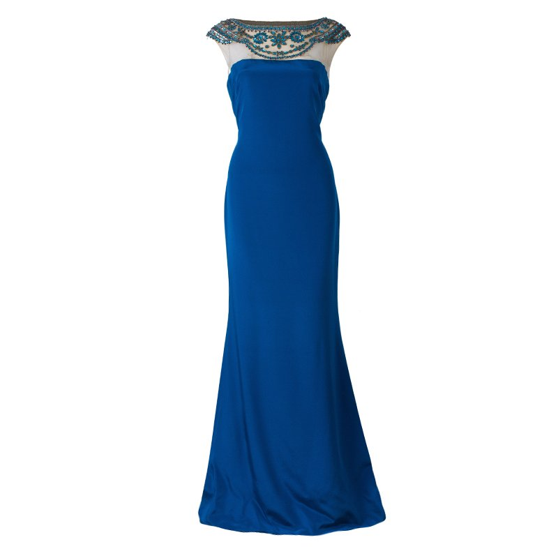 e2d807d976 Buy Notte By Marchesa Blue Embellished Gown L 43934 at best price | TLC