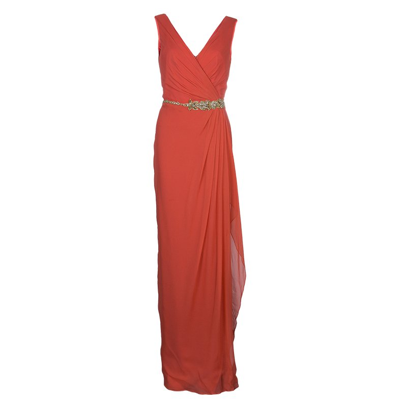 Notte By Marchesa Sleeveless Embellished Maxi Dress L