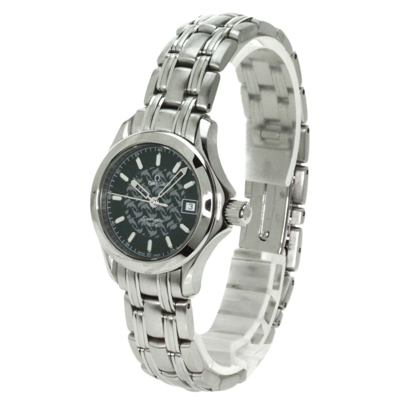 Omega Black Stainless Steel Jacques Mayol Limited Edition Women's Wristwatch 26MM