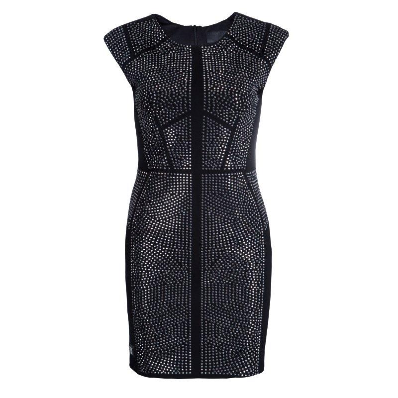 85141c49a1e ... Philipp Plein Black Studded Short Sleeve Dress M. nextprev. prevnext
