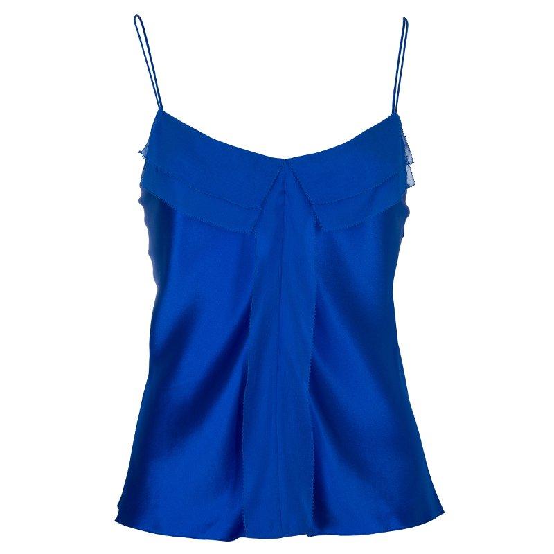Prabal Gurung Blue Silk Cami Top M
