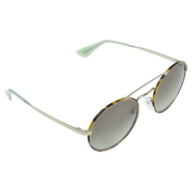 724a89fef Buy Prada Two Tone SPR51S Round Aviator Sunglasses 51981 at best ...
