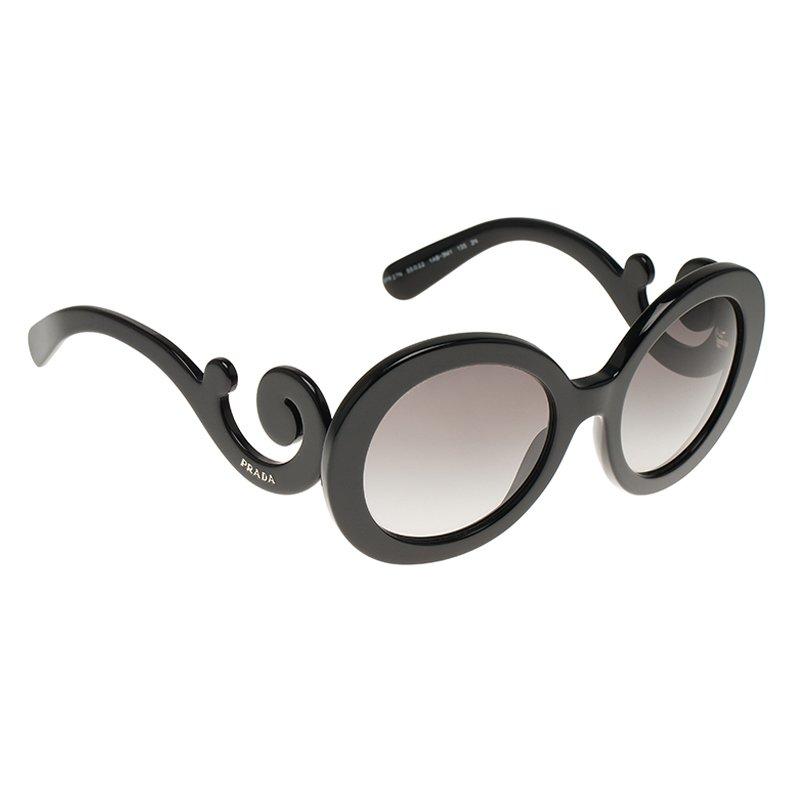 b983bbd930b Buy Prada Black Baroque Round Sunglasses 63797 at best price