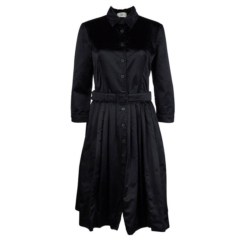 220738196e86e1 ... Prada Black Silk Pleated Button Down Belted Dress M. nextprev. prevnext