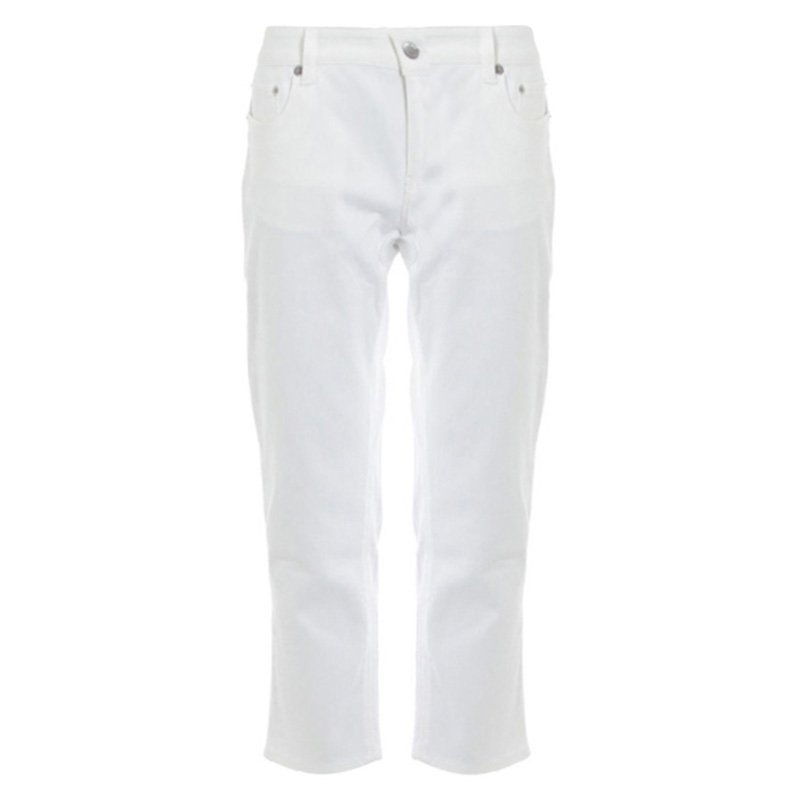 Prada White Denim Capri Pants S