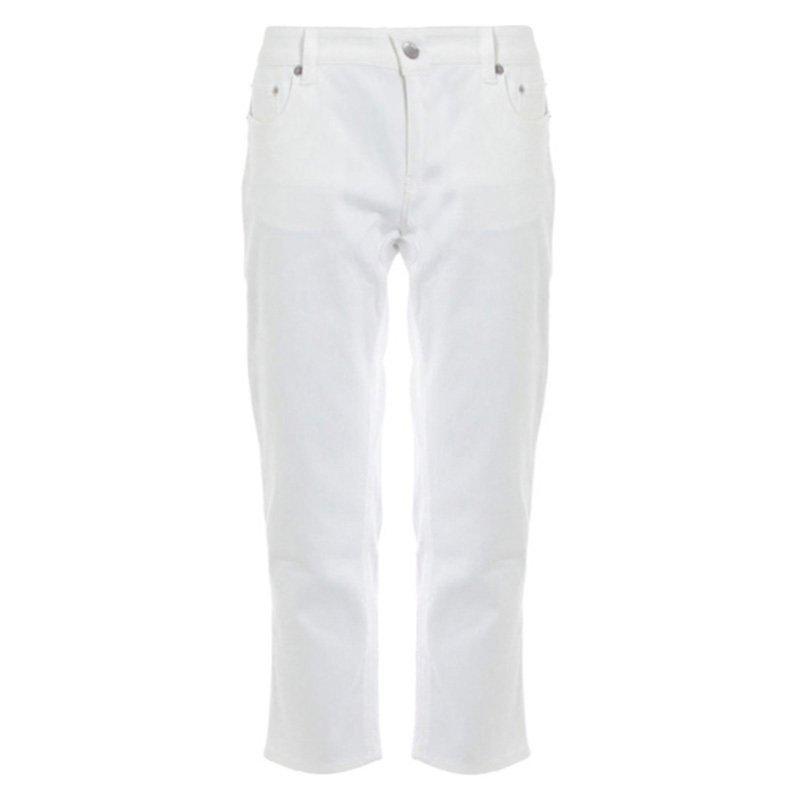 Prada White Denim Capri Pants S
