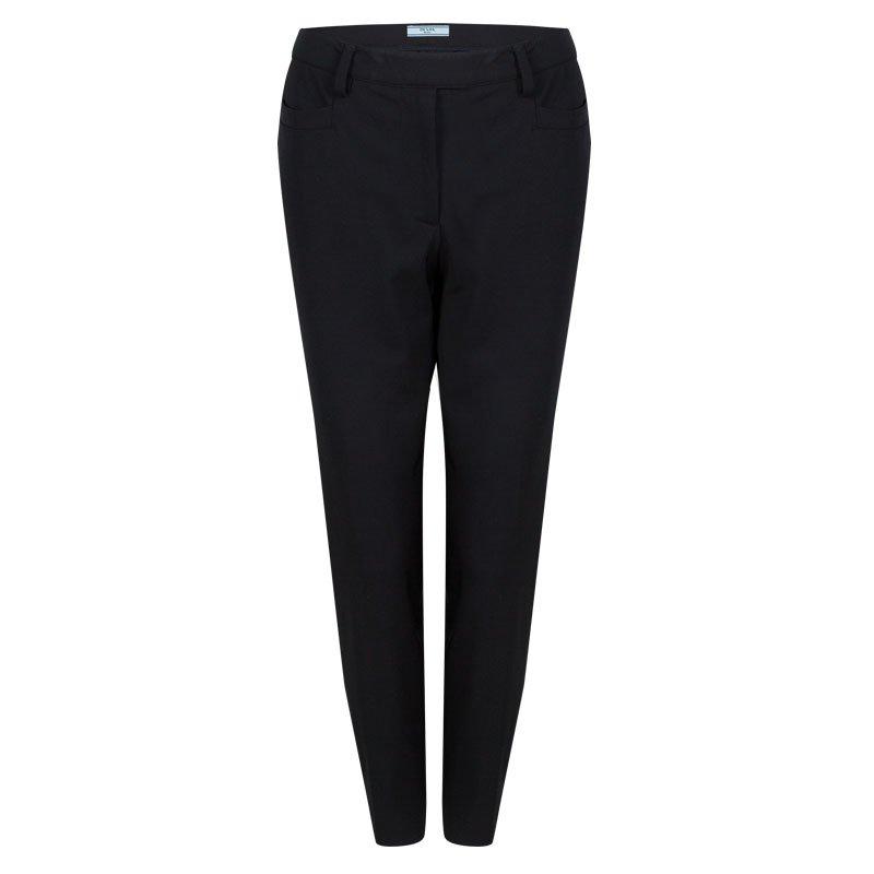 Prada Black Straight Fit Trousers M