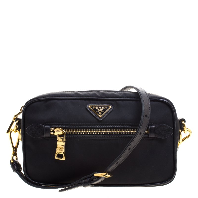 6d2e3e4f87fd Buy Prada Black Nylon Camera Bag 102882 at best price | TLC