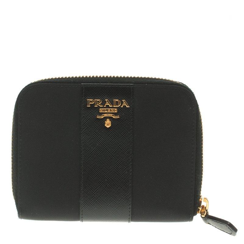 c7c929c7b9ad ... authentic prada black saffiano metal leather compact zip wallet.  nextprev. prevnext 36a11 3511a ...