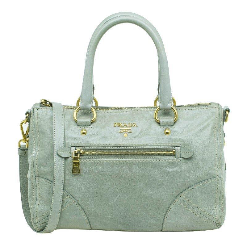 551c99b7319e ... Prada Olive Green Leather New Vitello Satchel Shoulder Bag. nextprev.  prevnext