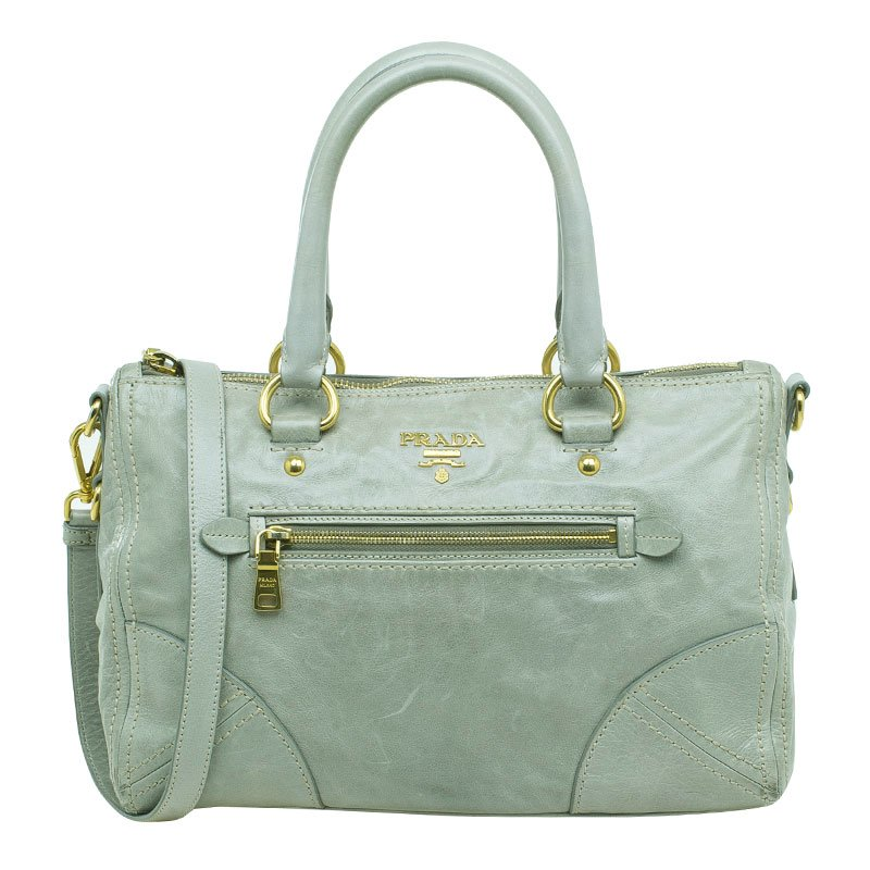 7c8a8d8fd66e ... Prada Olive Green Leather New Vitello Satchel Shoulder Bag. nextprev.  prevnext