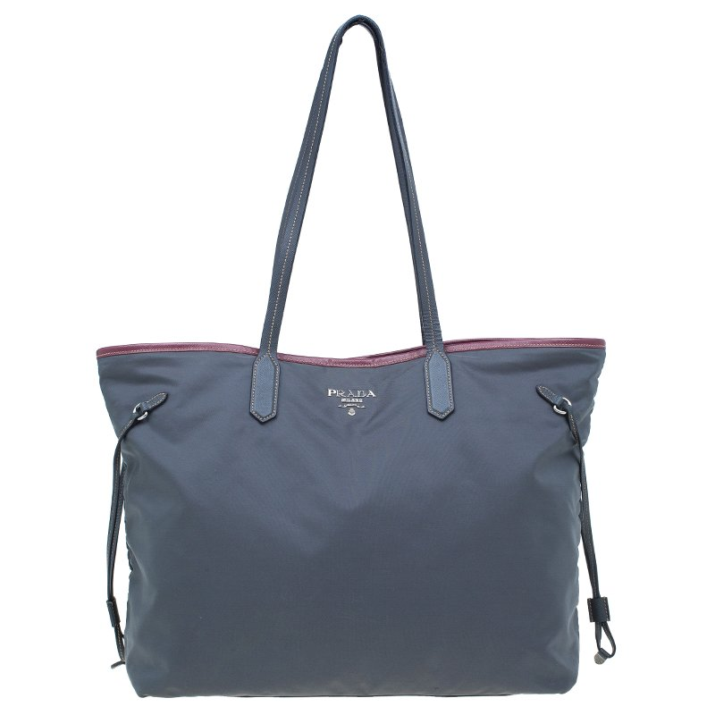 994b0ce89dc3b ... Prada Grey Tessuto Saffiano Tote Bag. nextprev. prevnext. Share