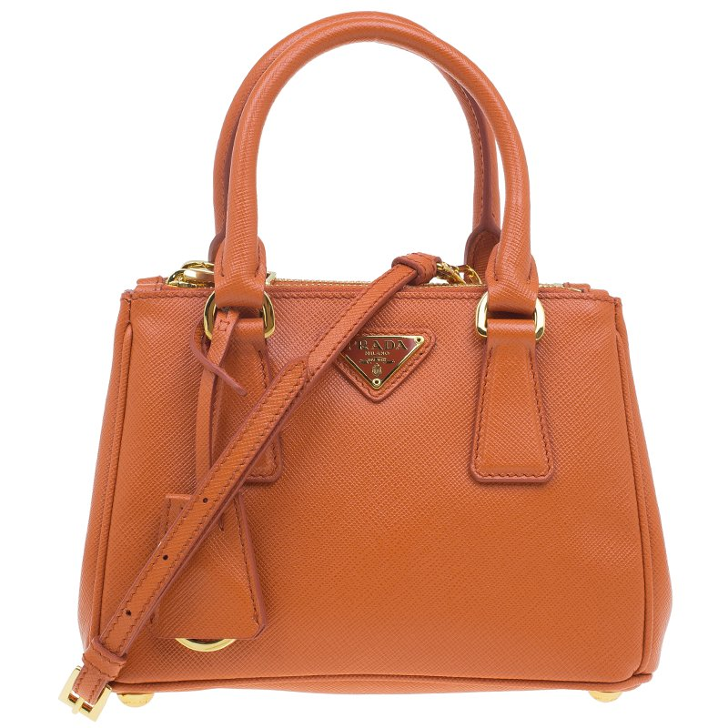 170e4afccf80 ... Prada Orange Saffiano Leather Mini Galleria Tote Bag. nextprev. prevnext