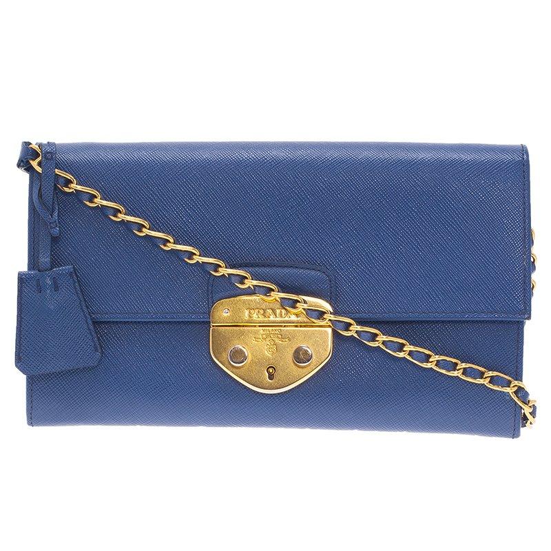 4f956537e8e7 ... Prada Blue Saffiano Lux Leather Bandoliera Clutch Bag. nextprev.  prevnext