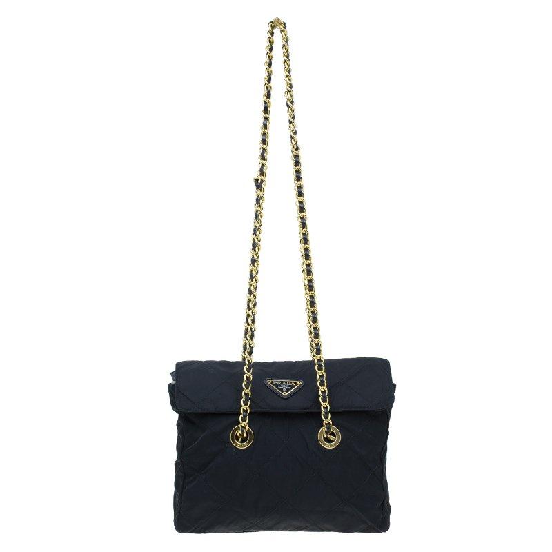 43bdab1cd497 ... Prada Black Quilted Nylon Vintage Shoulder Bag. nextprev. prevnext